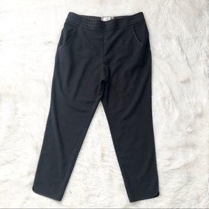 Elevenses Anthro Black Silk Trim Pull On Pant 12